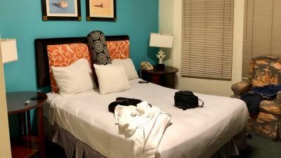 Hotele w San Francisco oferują noclegi w różnych standardach. To nasz pokój w Marina Inn.