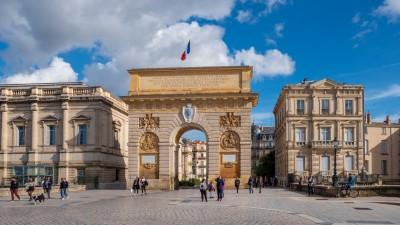 Łuk Triumfalny Porte du Peyrou w Montpellier