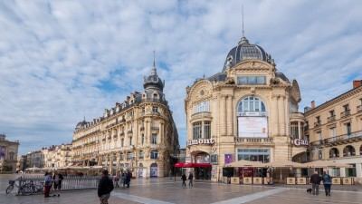 Plac Komedii w Montpellier, Francja