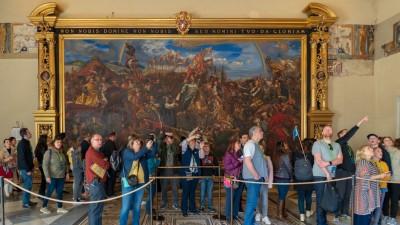 Jan Sobieski pod Wiedniem, obraz Jana Matejki, który znajduje się w Watykanie