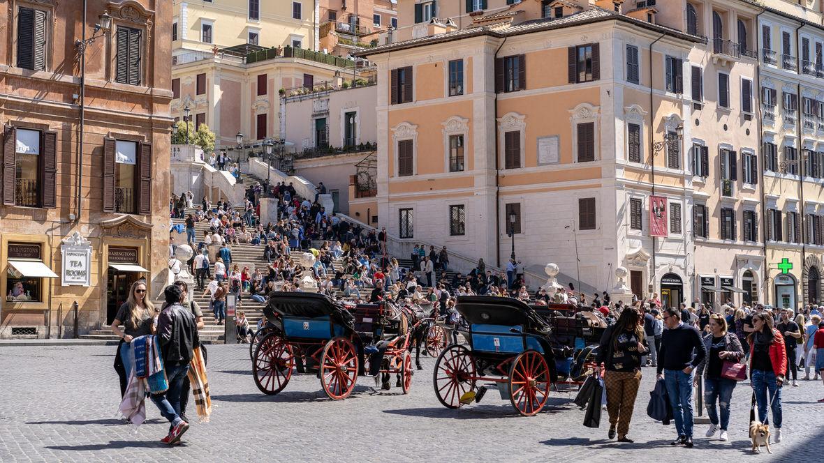 Schody Hiszpańskie, Rzym