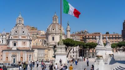 Widok z Ołtarza Ojczyzny w Rzymie