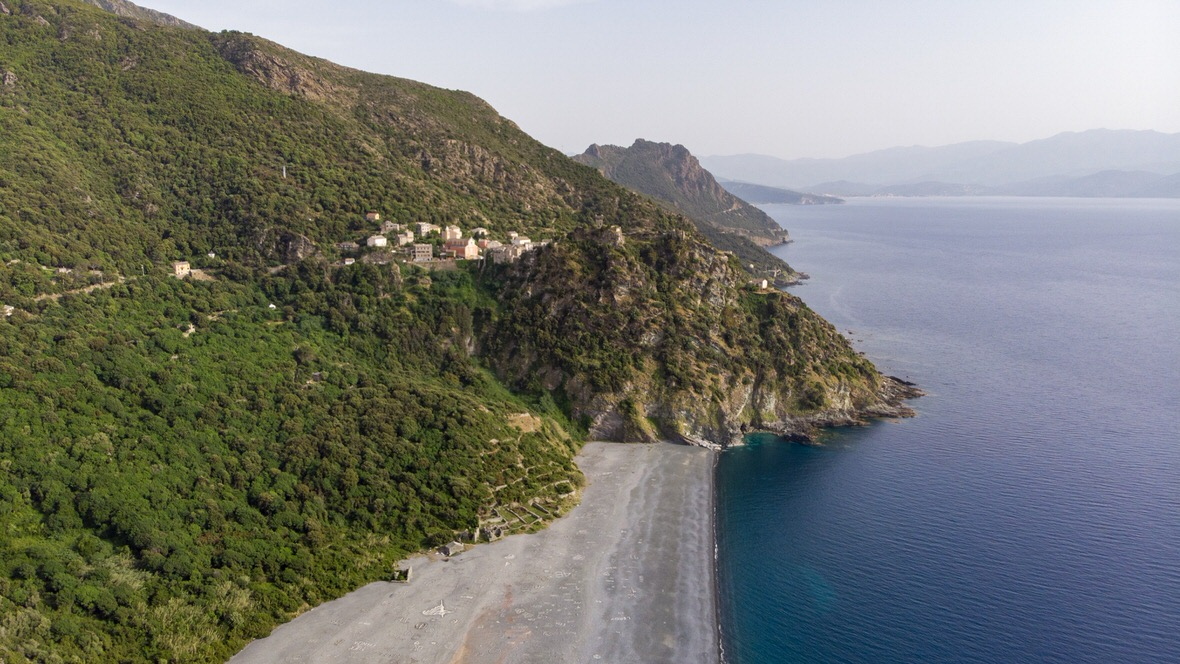 Nonza, Cap Corse (Korsyka)