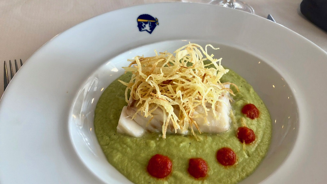Jedzenie w restauracji na promie Corsica Ferries było rewelacyjne!