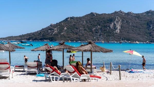 Korsyka plaże: plaża Santa Giulia