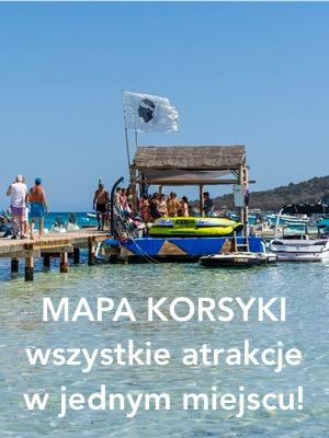 Korsyka - mapa